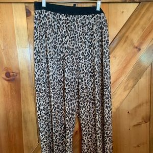 H&M Cheetah Wideleg Pants